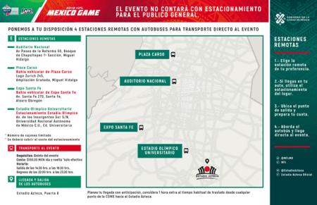 El Gobierno de la Ciudad de México anuncia plan de Movilidad rumbo al NFL MEXICO GAME 2019