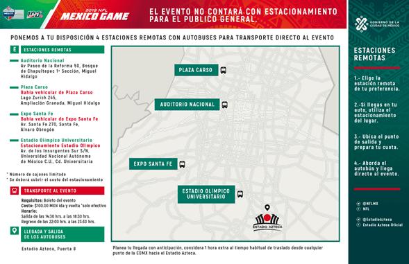 El Gobierno de la Ciudad de México anuncia plan de Movilidad rumbo al NFL MEXICO GAME 2019 - plan-de-movilidad-cdmx-nfl-mexico-game-2019