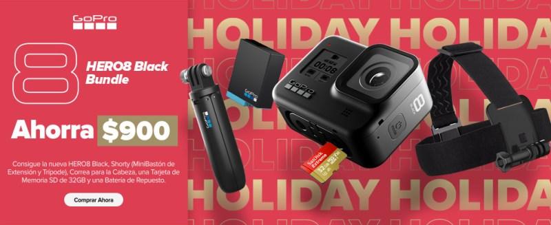 GoPro anuncia sus ofertas para esta navidad 2019 - hero8black_bundle_holiday-800x327