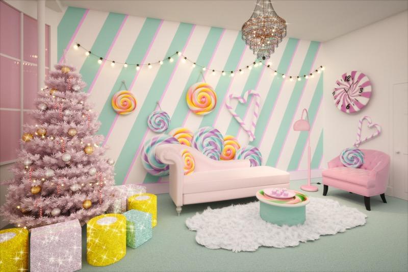 Candy Cane House, el alojamiento más dulce de todos - living-room