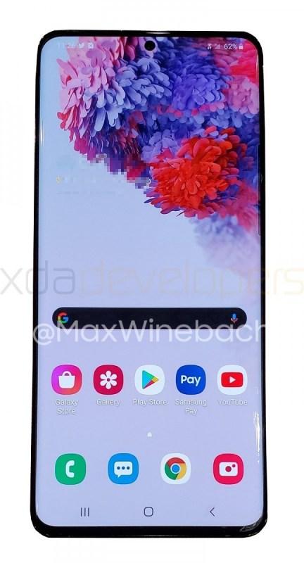Este es el Samsung Galaxy S20+, se filtran sus primeras fotos - galazy-s20-front-xda
