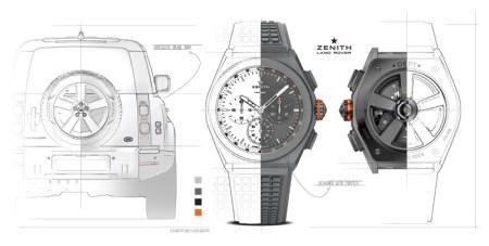 Crean Land Rover y Zenith reloj edición especial para conmemorar al Defender
