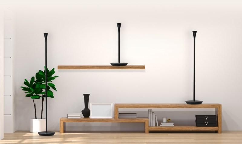 Panasonic CES 2020: Audífonos true-wireless, altavoz para gamers y televisor OLED diseñado en Hollywood - panasonic-homehawk-floor-lampara-camara-de-seguridad