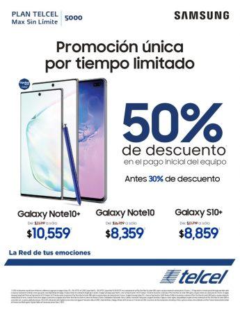 Galaxy Note10 y Galaxy S10+ con descuentos de hasta el 50%