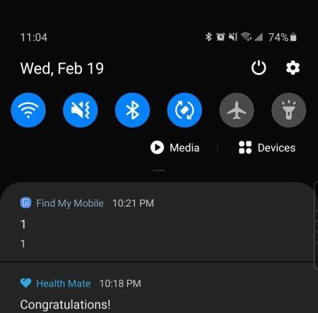 Smartphones Samsung reciben una extraña notificación, sorprendiendo a sus usuarios