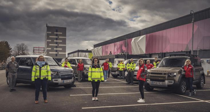 Jaguar y Land Rover despliega flotilla para apoyar a las organizaciones de servicios de emergencias - flotilla-jaguar-y-land-rover-coronavirus