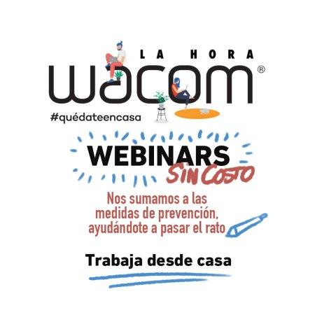 Wacom se une a la iniciativa «Quédate en casa» con webinars gratuitos
