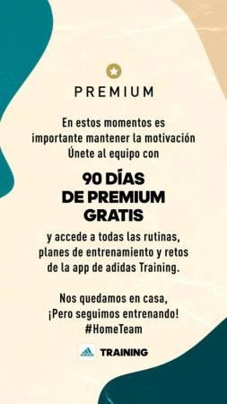 90 días de premium gratis de las apps adidas: accede a rutinas, retos y planes de entrenamiento