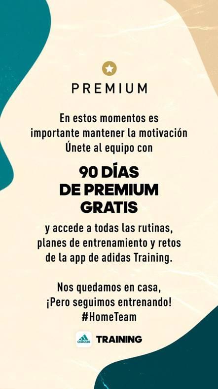 90 días de premium gratis de las apps adidas: accede a rutinas, retos y planes de entrenamiento - apps-adidas-gratis