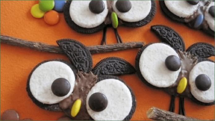 Recetas divertidas para preparar junto con los niños en la cuarentena - caras_de_buho_de_chocolate