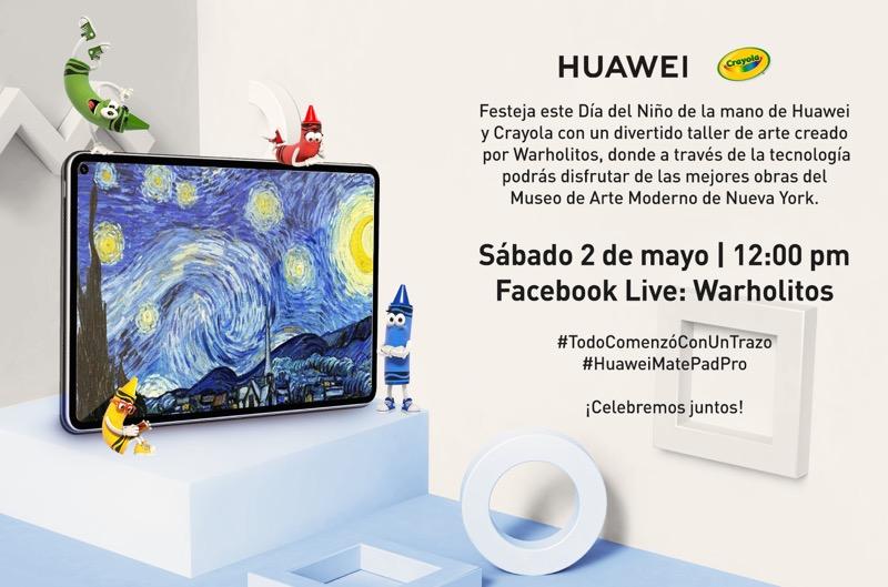 Huawei en alianza con Warholitos te invitan a un divertido taller de arte - taller-warholitos-huawei-crayola-800x529