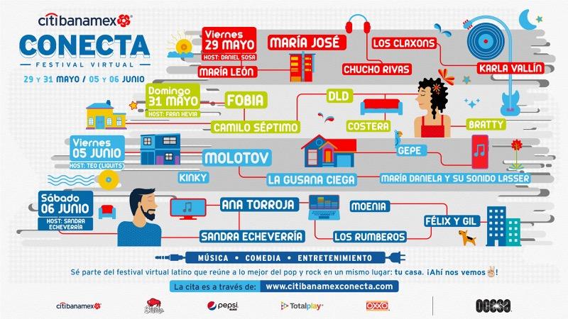 Citibanamex Conecta, el primer festival musical virtual gratuito - citibanamex-conecta-800x450