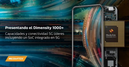 MediaTek presenta el chip 5G-Dimensity 1000+ integrado para teléfonos inteligentes
