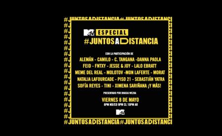 Especial musical benéfico: «MTV Juntos a Distancia» el 8 de mayo