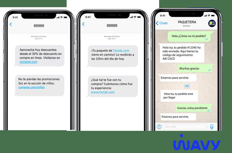 SMS y Whatsapp mejoran la comunicación y experiencia de compra durante Hot Sale 2020 - wavy-hot-sale-2020
