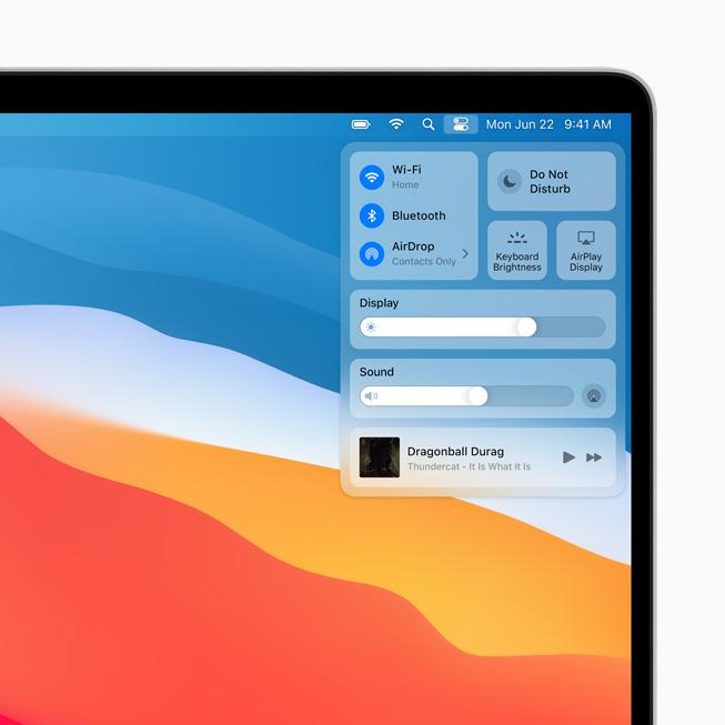 WWDC 2020: Todo lo que Apple presentó en su conferencia para desarrolladores - apple_macos-bigsur_controlcenter_06222020_carousel-jpg-large