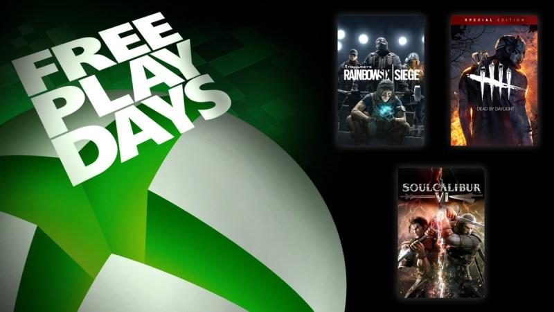 Días de juegos gratis: Soulcalibur VI, Tom Clancy's Rainbow Six Siege y Dead by Daylight: Special Edition - dias-de-juego-gratis-xbox-800x450