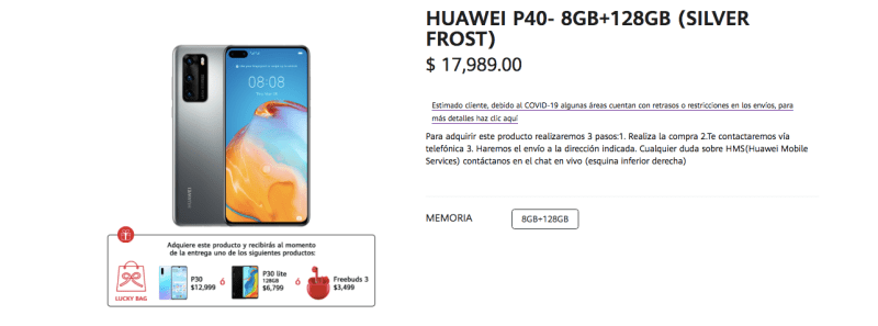 Huawei P40 llegada a México ¡características y precio! - huawei-p40-sitio-web