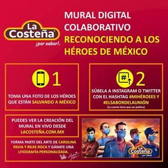 Se parte del Mural Digital Colaborativo para reconoce a los héroes de México