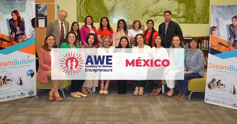 Incubadora FUMEC convoca a mujeres emprendedoras para ser parte de AWE-DreamBuilder México - we-dreambuilder-mexico-800x418