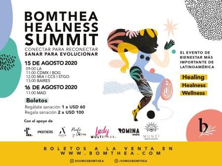 Bomthea Healness Summit: evento digital para reconectar contigo mismo