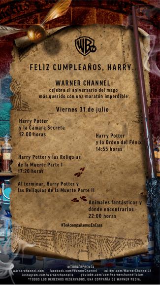 ¡Feliz cumple Harry Potter! programación especial por Warner Channel - harry-potter-warner-channel