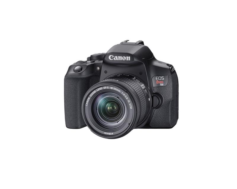 EOS Rebel T8i de Canon, la primera cámara EOS réflex con grabación de video vertical - hr_eost8i_frontslantleft_efs18_55mm