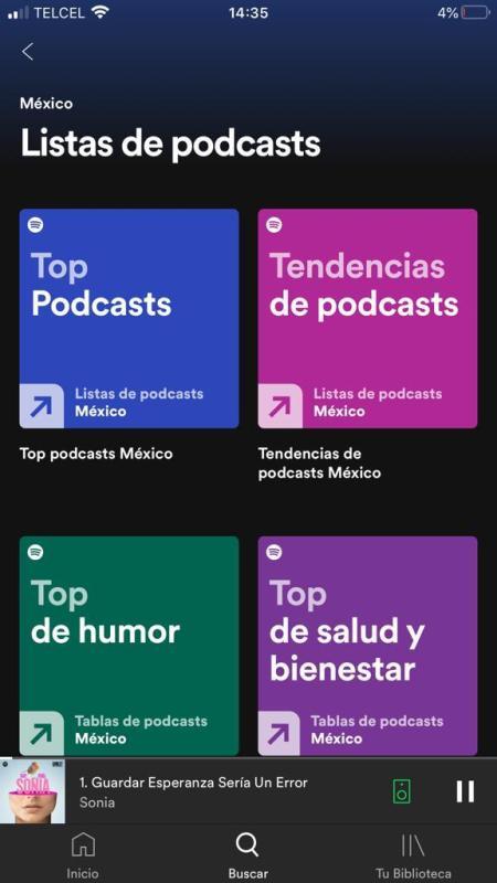 Spotify lanza rankings para promover el descubrimiento de podcasts de usuarios y creadores - listas-de-podcasts