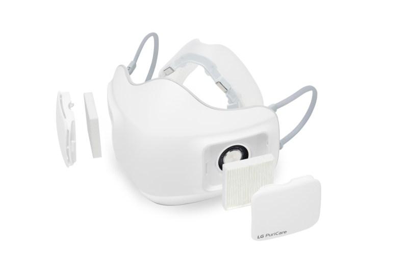 Máscara purificadora de aire es desarrollada por LG para ayudar al personal médico durante la pandemia - mascara-purificadora-aire-lg-800x533