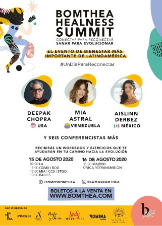 Mía Astral en la lista de conferencistas del Bomthea Healness Summit
