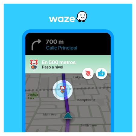 Waze lanza nueva función que te alerta cuando te acercas al cruce de un ferrocarril o tren
