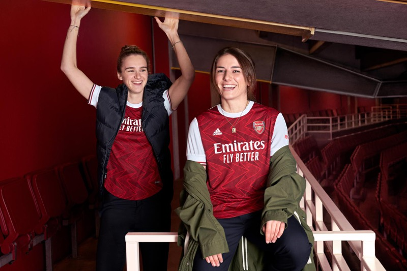 adidas presenta uniformes de clubes internacional para la temporada 2020/21 - arsenal_jersey_3