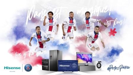 Hisense anuncia una alianza global con el club de fútbol París Saint-Germain