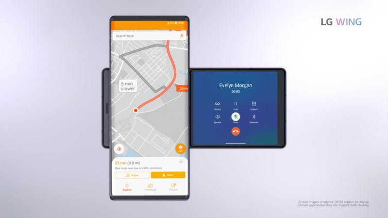LG Wing, el primer smartphone con doble pantalla giratoria - lg-wing_navigationcall