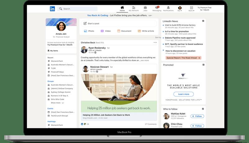 Nuevo diseño de LinkedIn: más simple, intuitiva y accesible - linkedin_new_design_static-800x459