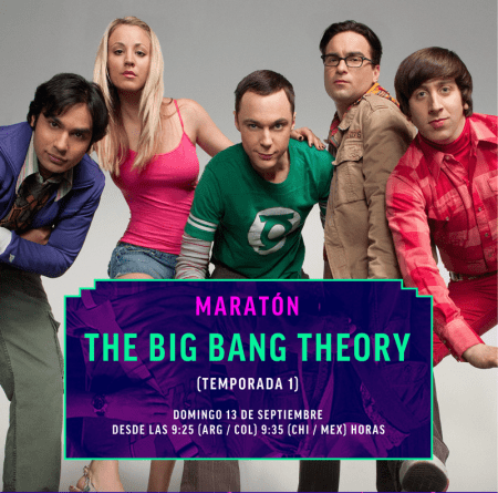 Maratón Warner Channel: The Big Bang Theory este 13 de septiembre