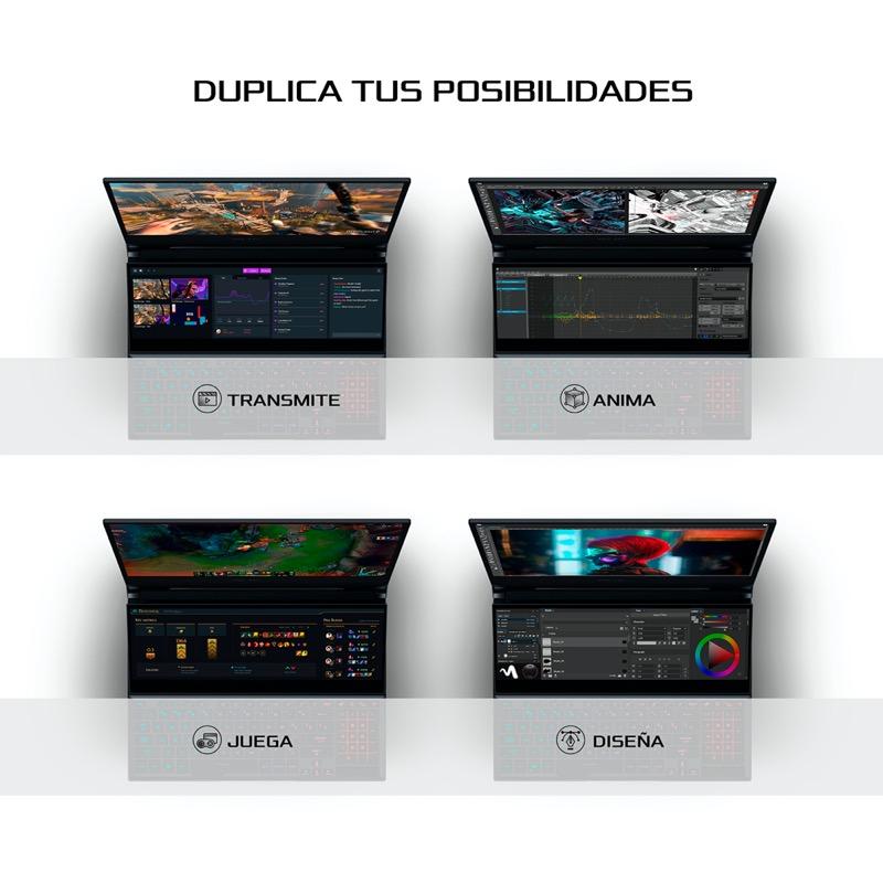 Zephyrus Duo 15, la laptop con doble pantalla para gaming llega a México - zephyrus_duo_asus-1