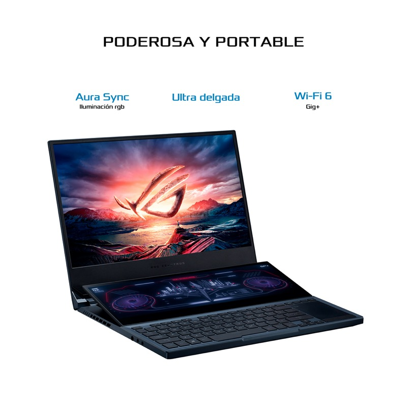 Zephyrus Duo 15, la laptop con doble pantalla para gaming llega a México - zephyrus_duojpg