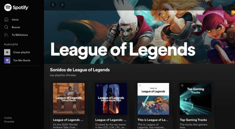 Spotify lanza experiencia digital para los fanáticos de League of Legends - league-of-legends-spotify-800x440