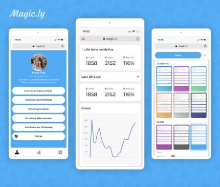Magic.ly, nueva herramienta para agrupar todos tus links y redes sociales en uno solo