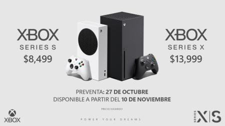 La preventa en México de Xbox Series X y Xbox Series S a partir del 27 de octubre