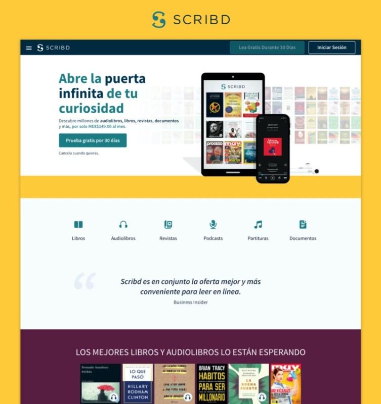 Scribd celebra un año en México con un crecimiento  de suscriptores - scribd-aniversario-mexico-753x800