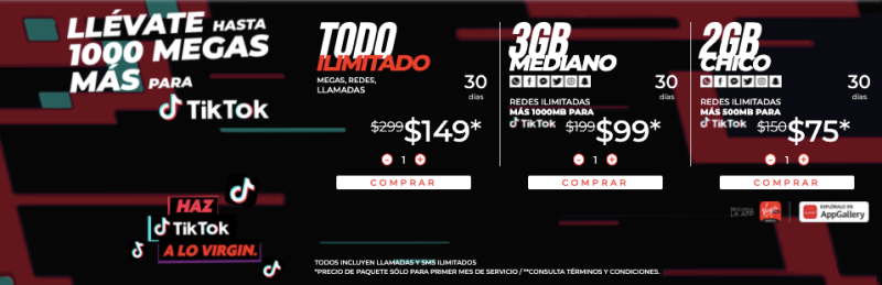 Virgin Mobile será el socio oficial de telefonía en México de TikTok - virgin-mobile-tiktok-800x259