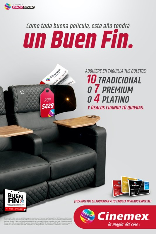 Cinemex con promociones para El Buen Fin y disfrutes La Magia del Cine - 1-cinemex-buen-fin-2020-533x800