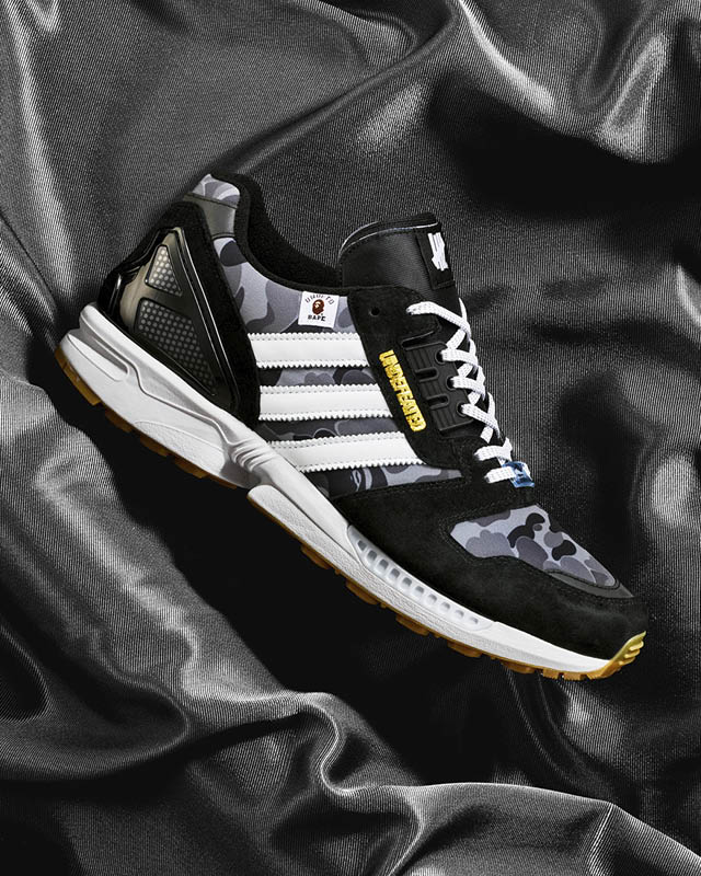 adidas, BAPE, y UNDEFEATED se reúnen para intervenir la silueta ZX 8000 y crear -B is for Bape x UNDFTD - adidas_zx_8000_bape_undftd_black