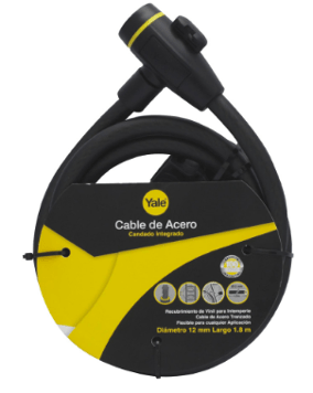 Top 5 de candados para bicicletas de alta calidad - cable-de-acero-con-candado-integrado