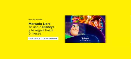 Mercado Libre ofrecerá meses de regalo de suscripción a Disney+