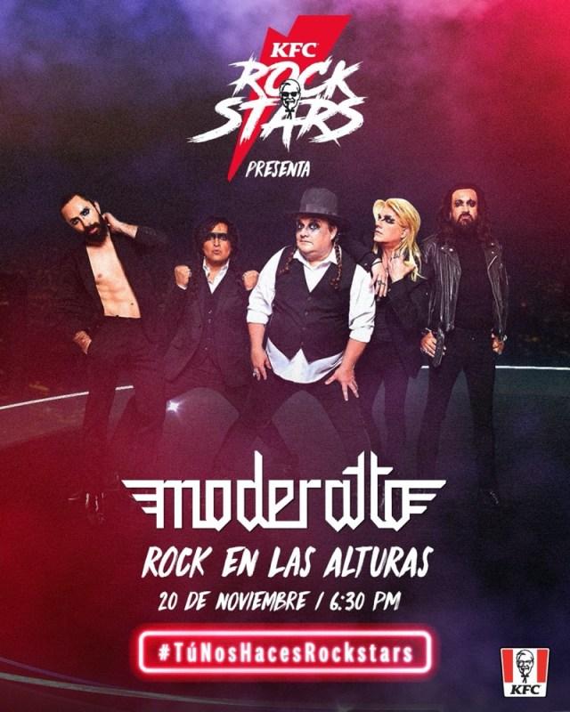 KFC y Moderatto ofrecen concierto gratuito desde el helipuerto en la CDMX - kfc-moderatto-rock