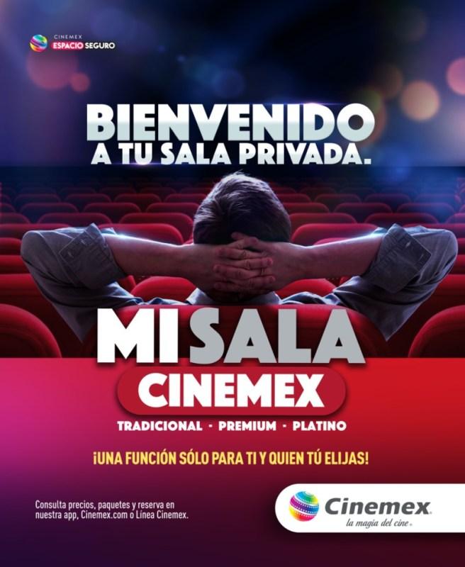 Ahora podrás rentar una sala privada en Cinemex para ver una película, la NFL o jugar videojuegos - mi-sala-cinemex-656x800