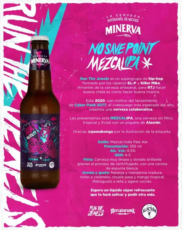 """""""No Save Point"""" la nueva cerveza colaborativa de Cerveza Minerva - cerveza_minerva_no_save_point_editorial_fichatee295a0ucc88cnicartjdiciembre20201"""
